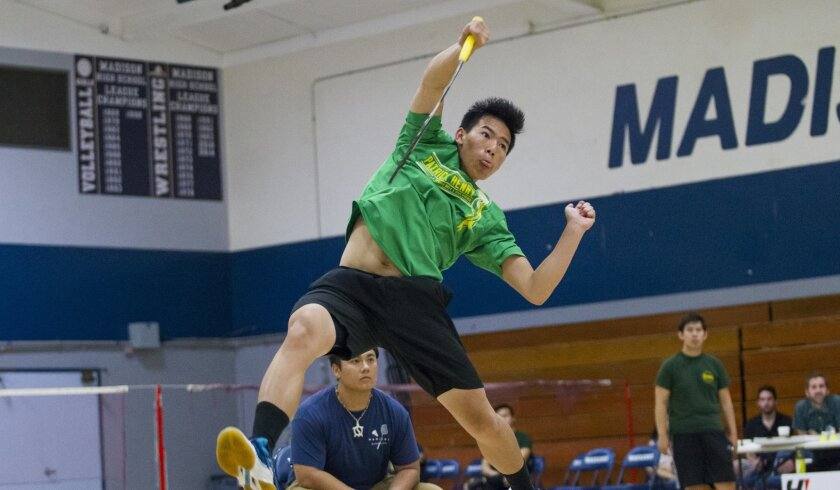 Kevin Lam helped lead Patrick Henry to the San Diego Section team badminton championship.