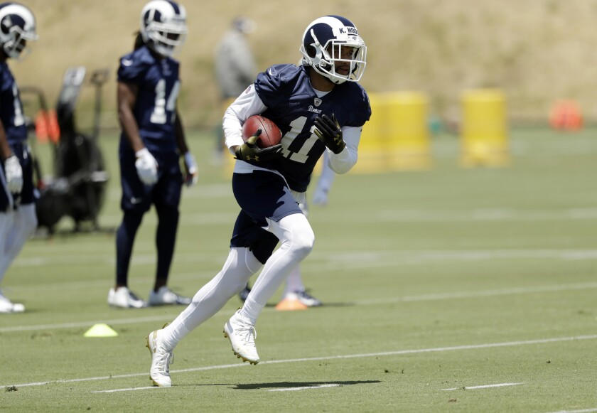 Los Angeles Rams wide receiver Robert Woods during an NFL football training camp Tuesday, May 28, 20