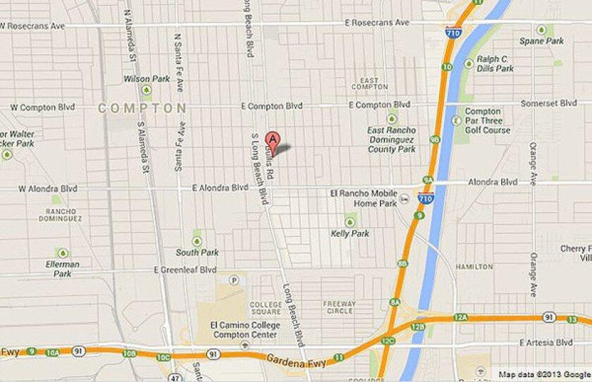 Sheriff's deputies pull woman from burning Compton garage