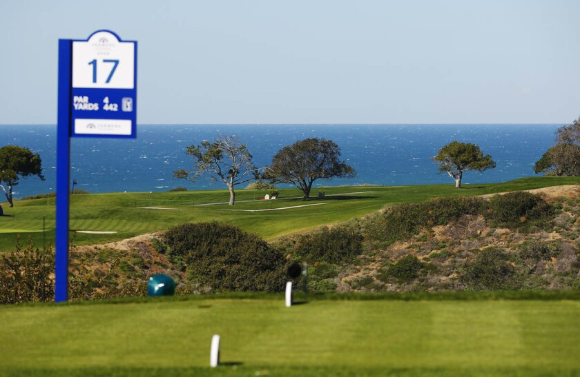 SAN DIEGO, CA -FEB 1, 2015 - | Cool, windy conditions made for a tough final round of the Farmers Insurance Open at Torrey Pines. | (K.C. Alfred/ San Diego Union-Tribune)