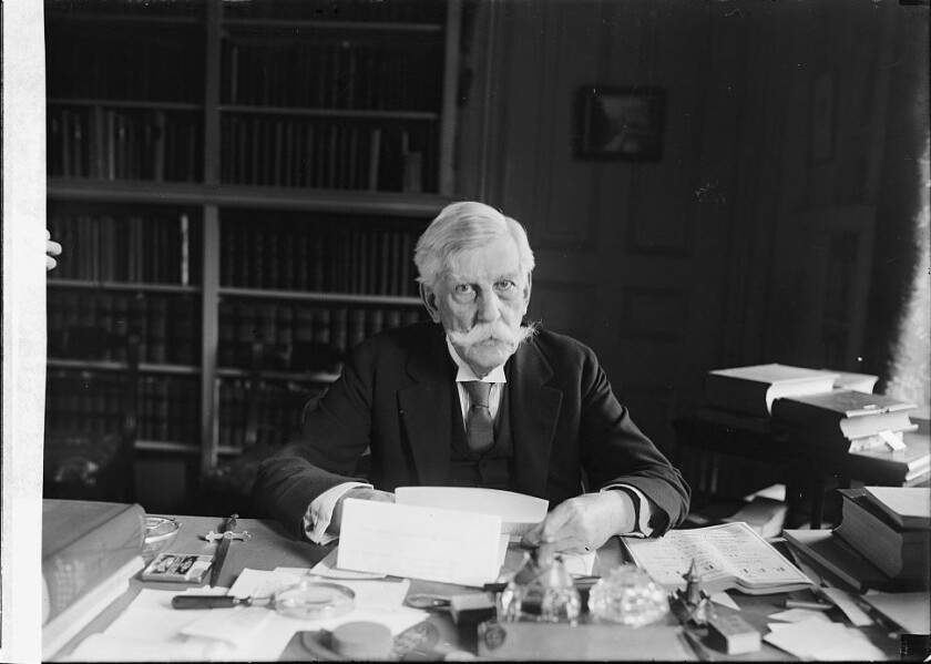 Oliver Wendell Holmes, pictured in 1924, was a physician and poet.