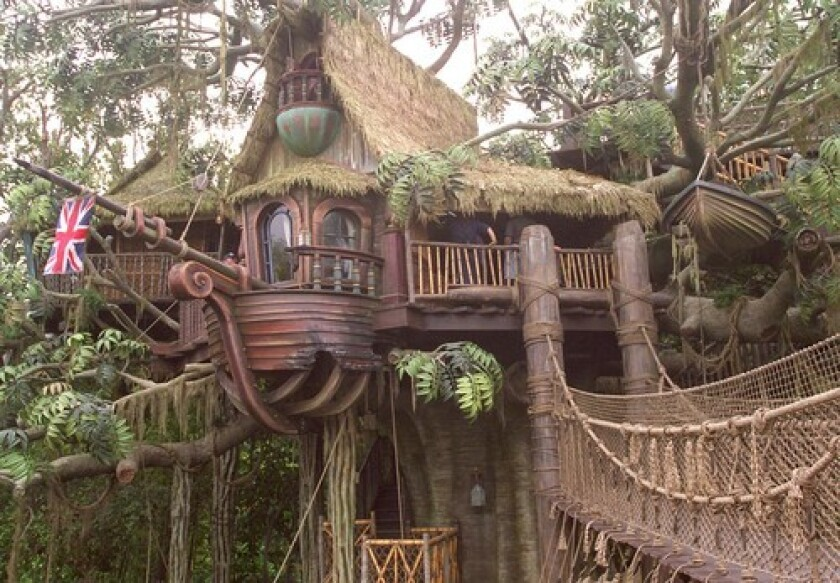 Tarzan's Treehouse at Disneyland was closed Sunday evening after a wooden slat on the attraction's bridge broke.
