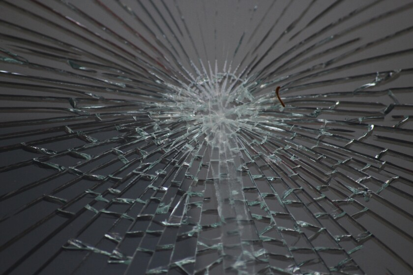 Cracked glass ceiling