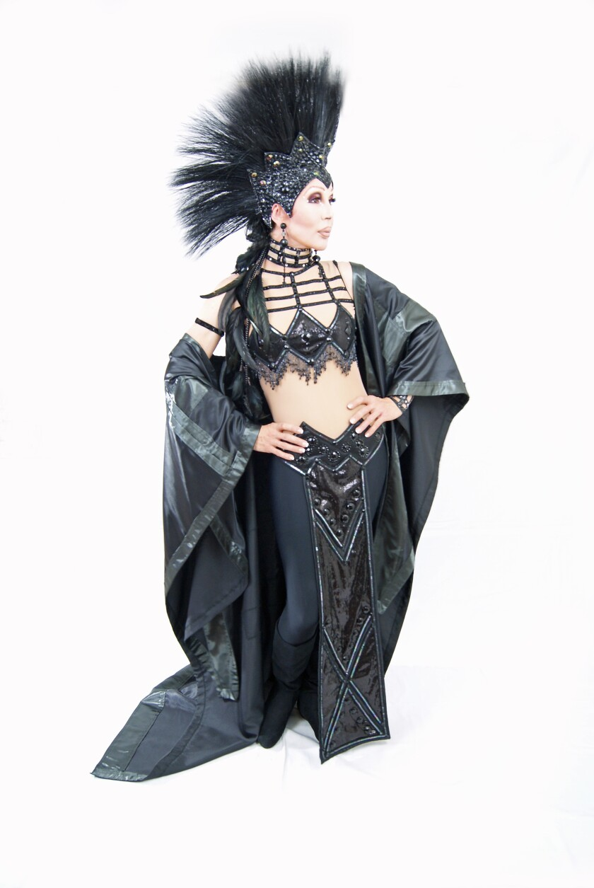 Chad Michaels, here as Cher, is one of the drag queens featured in a new exhibit at the San Diego History Center.