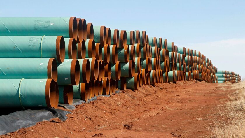 Keystone Pipeline materials in a field near Ripley, Okla., in 2012.