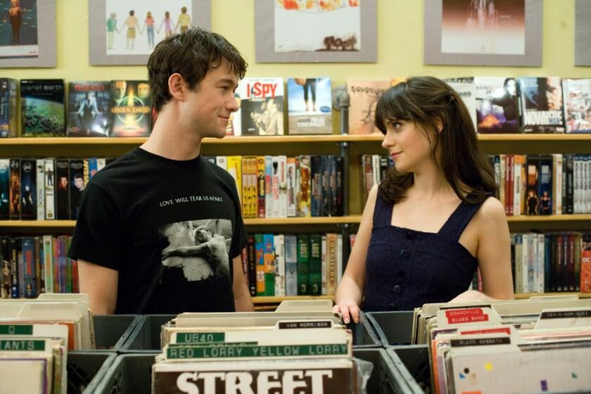 "Joseph Gordon-Levitt and Zooey Deschanel in ""500 Days of Summer."""
