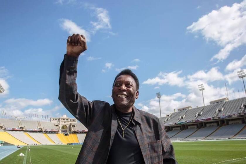 Edson Arantes do Nascimento 'Pelé', leyenda viviente del futbol.