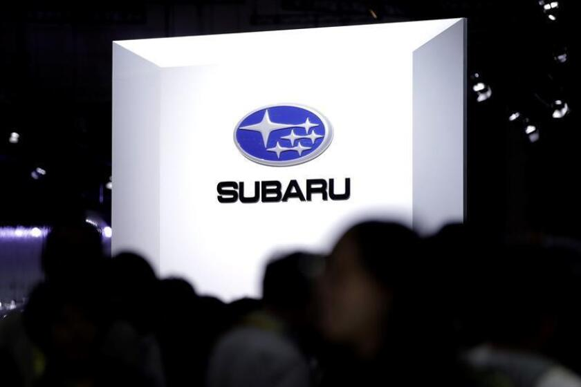 The logo of Subaru Corp. is seen at the 45th Tokyo Motor Show 2017 in Tokyo, Japan, 25 October 2017. EFE/EPA/File