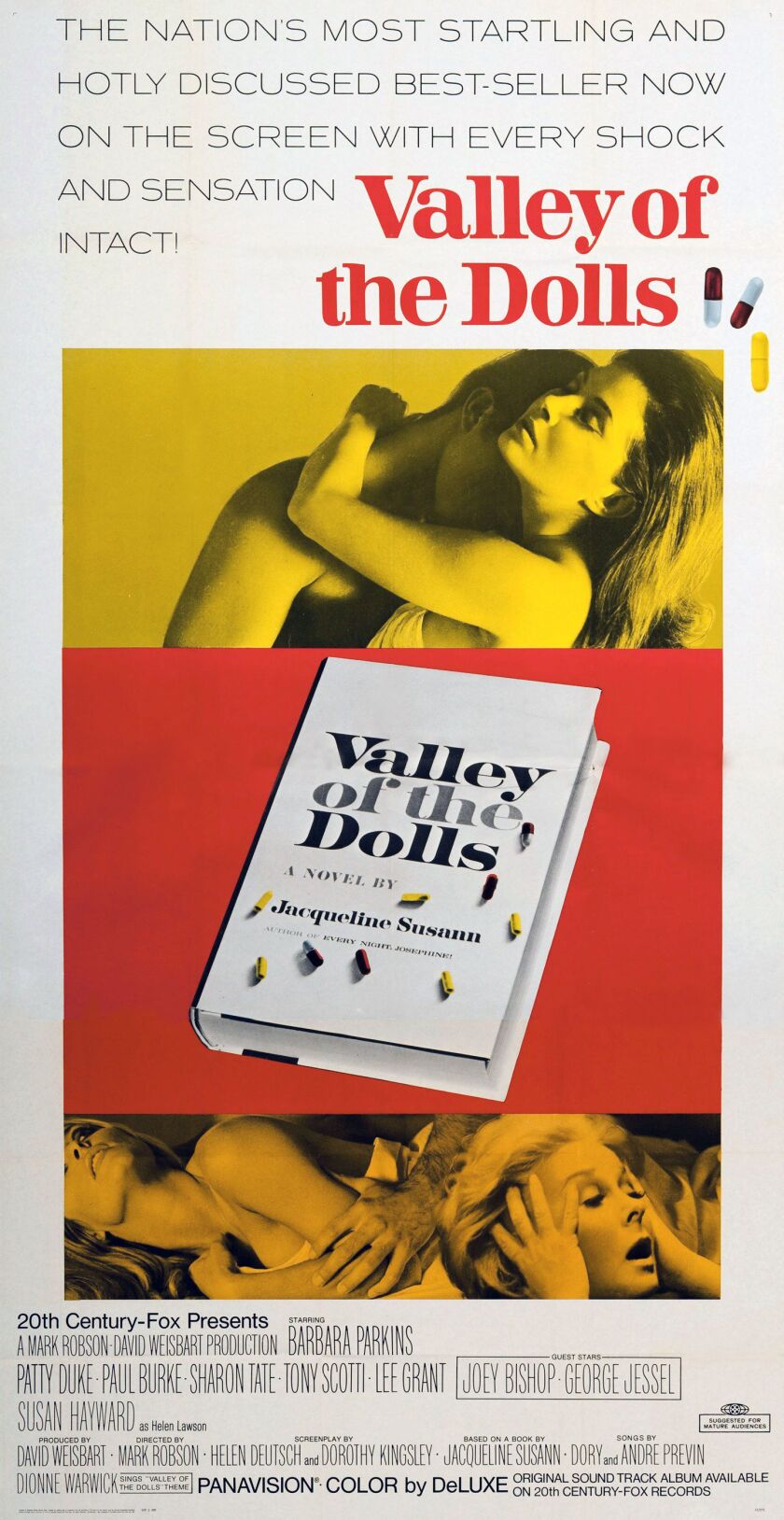 """Movie poster promoting the film """"Valley Of The Dolls."""""""