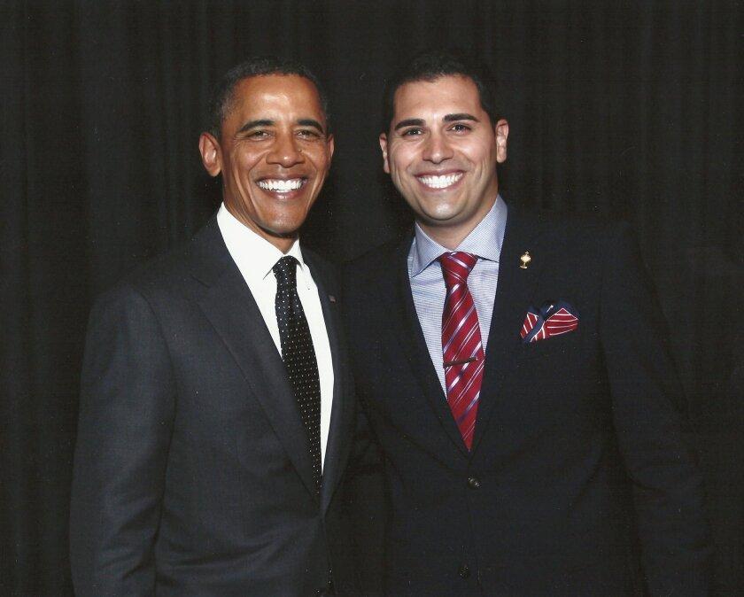 Mark Arabo, right, meets President Barack Obama.