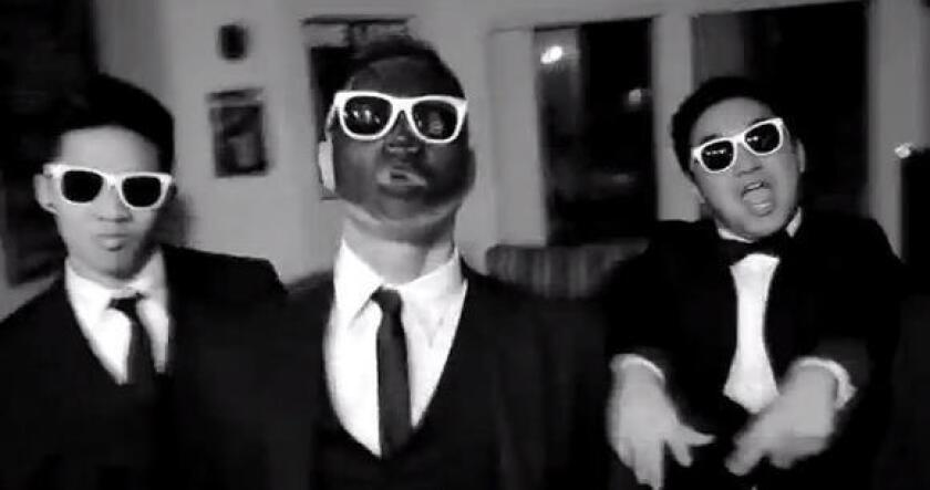 """A Lambda Theta Delta fraternity member dons blackface in a lip-syncing music video to Justin Timberlake and Jay-Z's song """"Suit and Tie."""""""