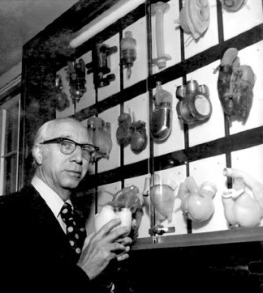 Dr. Willem Kolff, along with a team of scientists at the University of Utah, is credited with building the first successful artificial heart. Refined versions of the device are still used as a bridge to heart transplants.