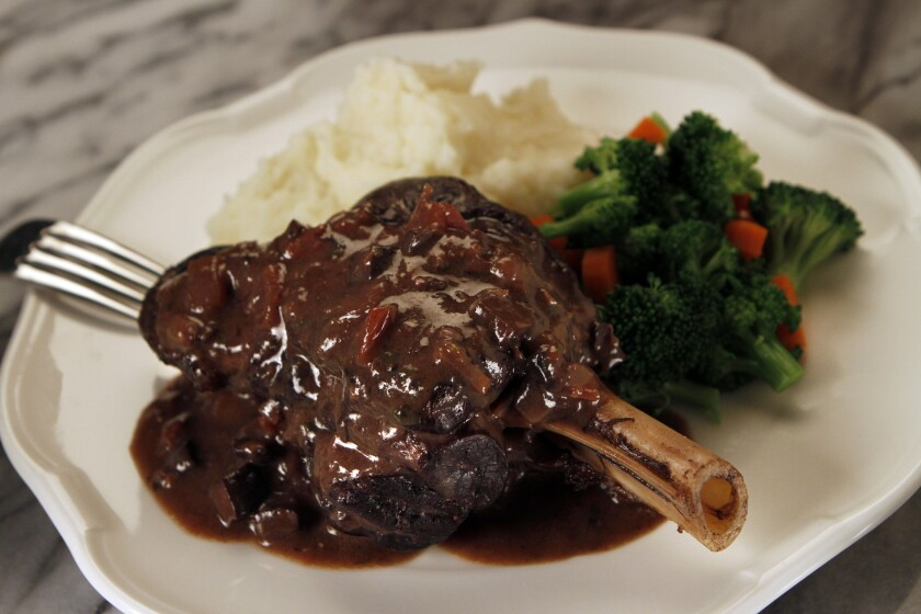 Culinary SOS: Amtrak's lamb shanks with mushrooms