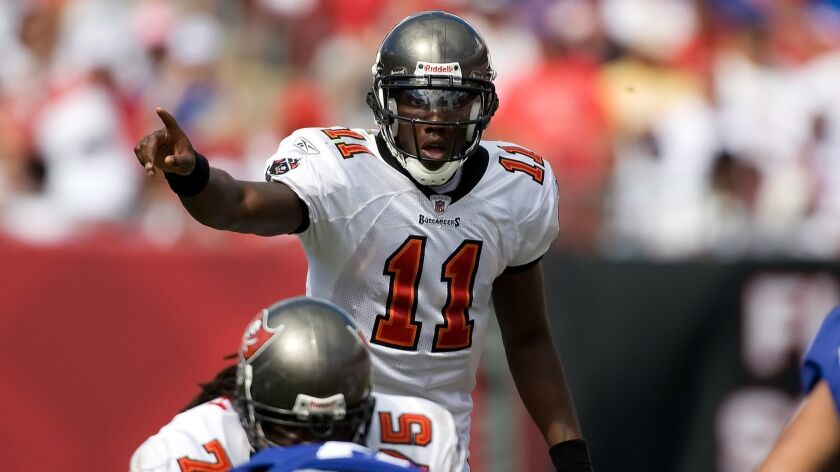 Josh Johnson's first stop in the NFL was with Tampa Bay.