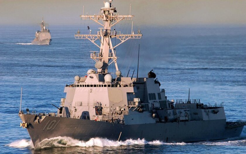 The Arleigh Burke-class destroyer Gridley.