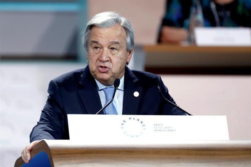 El secretario general de Naciones Unidas, António Guterres, pronuncia un discurso. EFE/POOL/Archivo