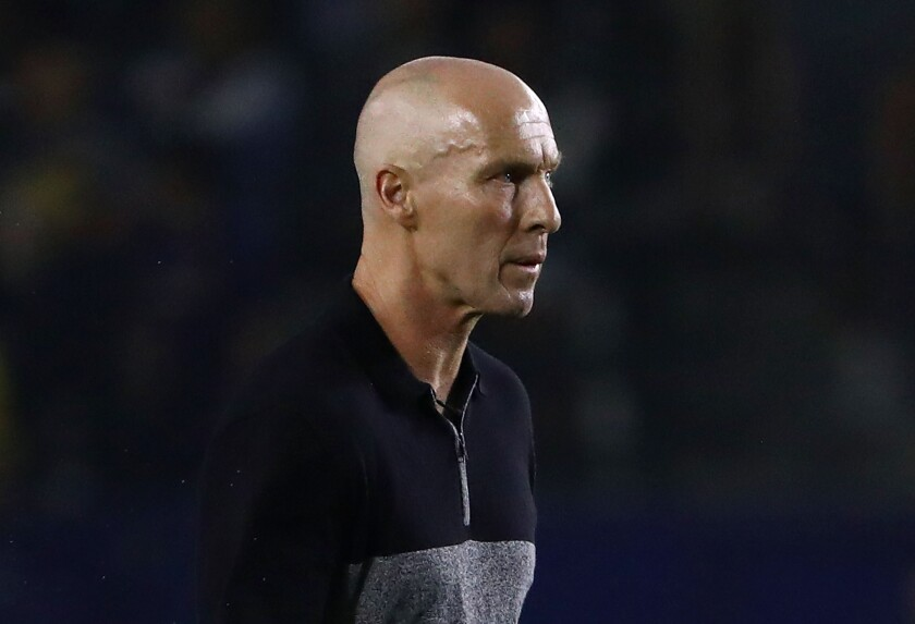 Bob Bradley earned his third MLS coach of the year honor after guiding LAFC to a league-best 21-4-9 regular-season record.