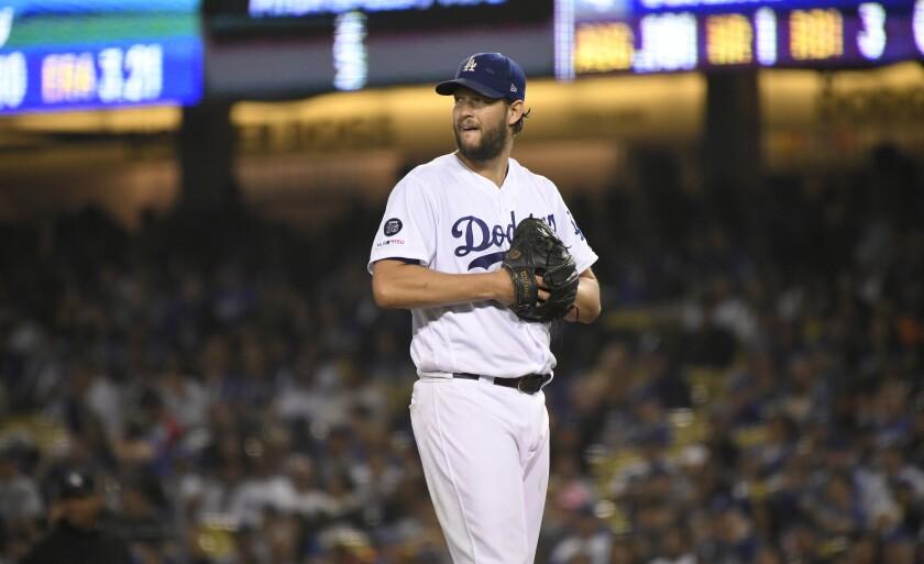 brand new effbd b3057 Dodgers' Dave Roberts has faith in struggling Clayton ...