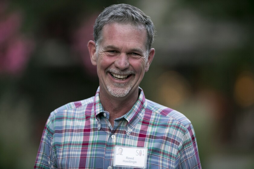 Reed Hastings, president and chief executive officer of Netflix Inc., has been critical of deals it has signed with Internet service providers.