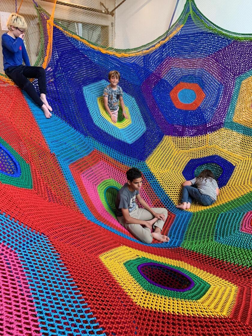 The New Children's Museum at 200 W. Island Ave. is displaying Whammoc k ! , Toshiko Horiuchi MacAdam's first large-scale work at a museum in the United States and the museum's most recent commission.