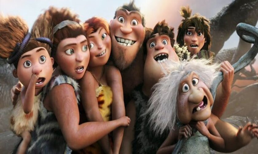 """A scene from """"The Croods."""""""