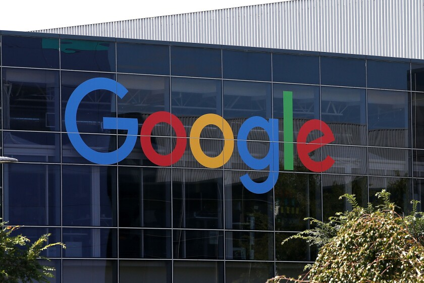 Google's company headquarters in Mountain View, Calif. The search giant has been revamping its policy on political ads and misinformation in response to criticism.