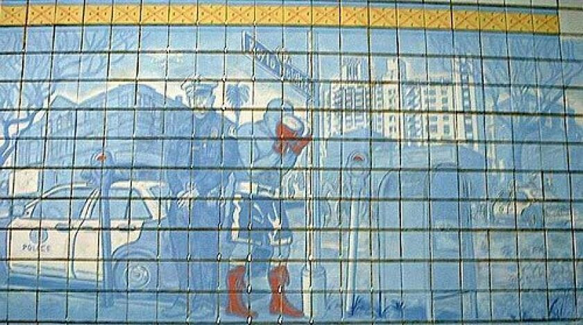 Everyone's an art critic when it comes to a $195,000 mural for the new LAPD Hollenbeck station. The tile mural was meant to depict a quaint Sunday in Boyle Heights. Many residents are angry, saying the mural makes their neighborhood out to be a crime-ridden dump with plump women, stray dogs, beer-swilling men and illegal street vendors.