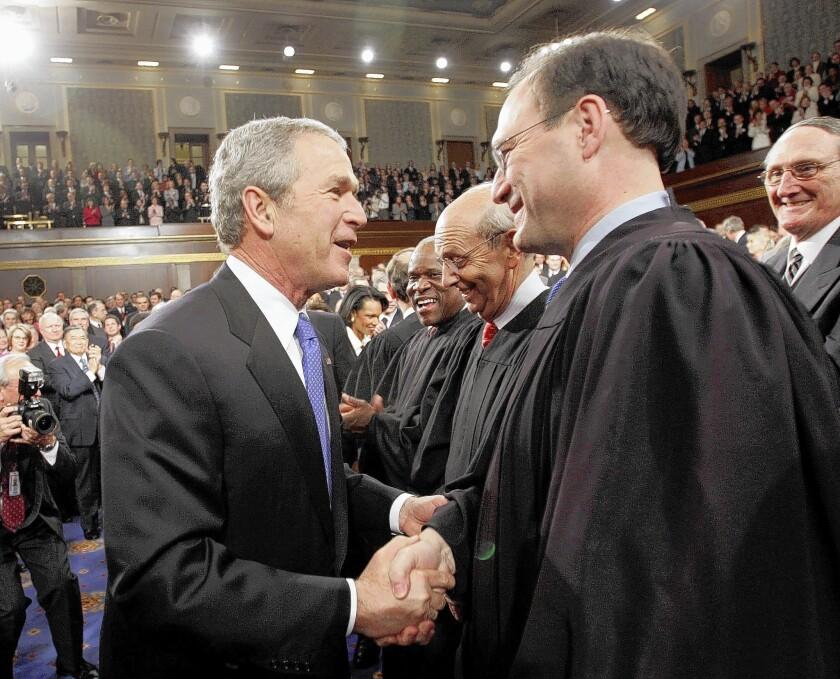 Justice Alito with President Bush