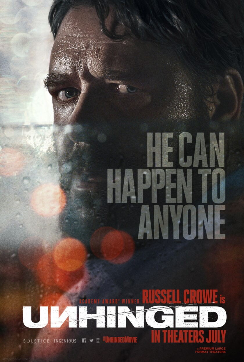 Russell Crowe's 'Unhinged' arrives in theaters July 1.