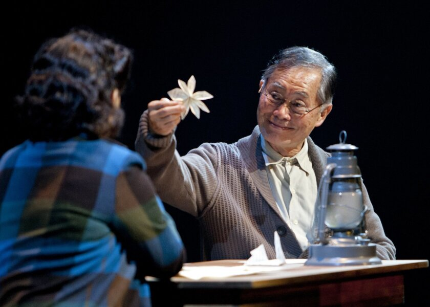 """2. """"Allegiance,"""" Old Globe Theatre Out of an unlikely-sounding idea for a musical — telling the story of the 100,000-plus Japanese-Americans interned during World War II — came a vibrant and moving show that mixed tragedy and uplift while rarely dipping into the maudlin or false. The passion (and"""
