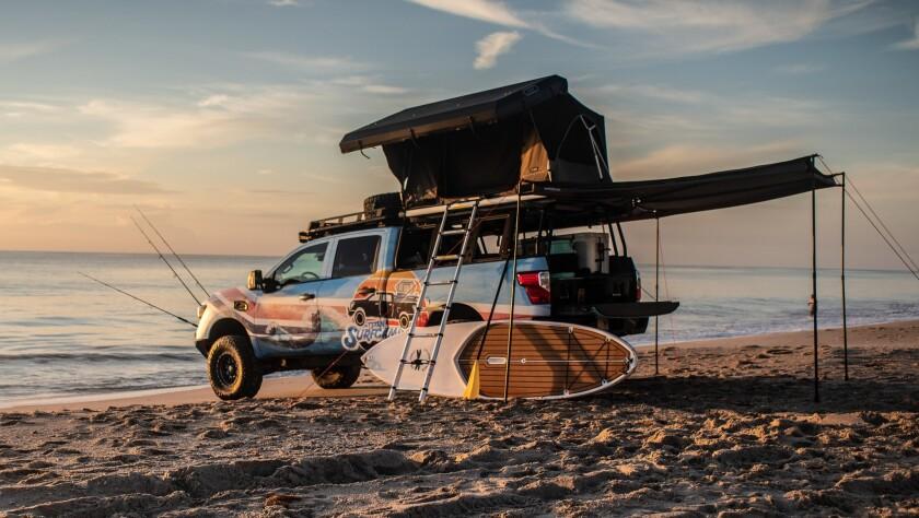 Nissan TITAN XD flexes its beach body as TITAN Surfcamp