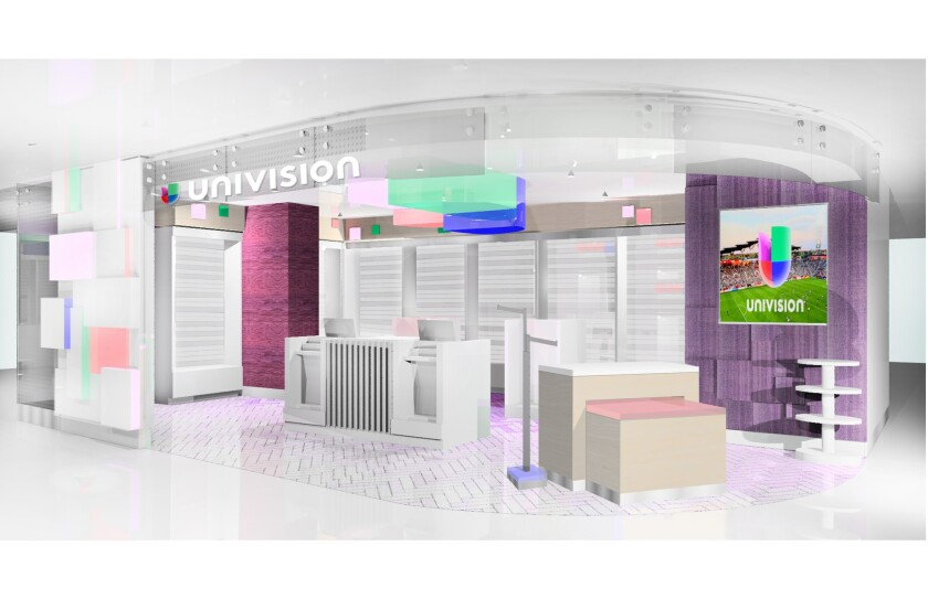 Spanish-language media company Univision Communications plans to open two retail stores in Terminal 2 of Los Angeles International Airport in early 2015.