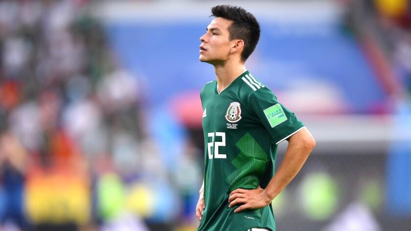 Hirving 'Chucky' Lozano... está fuera del Tri para la Copa Oro 2019.