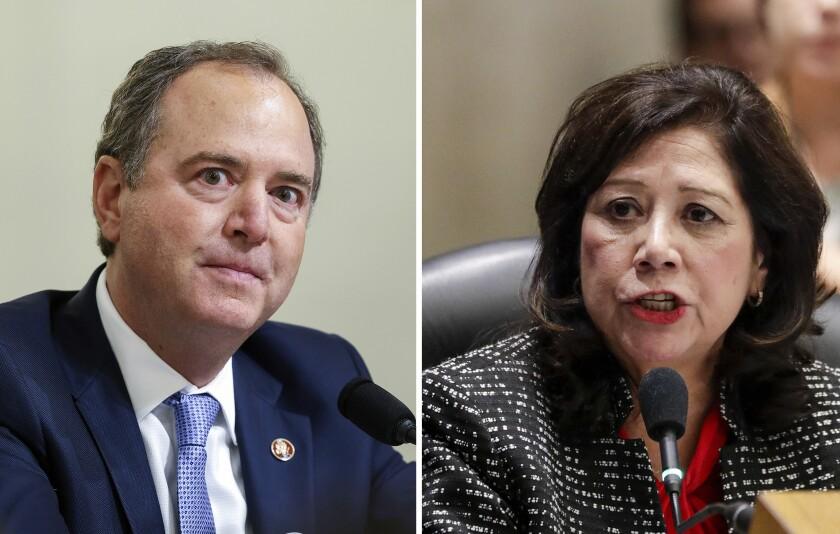 Rep. Adam B. Schiff (D-Burbank) and Los Angeles County Supervisor Hilda Solis.