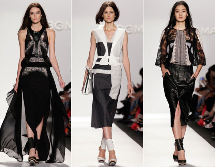 Looks from the BCBG Maz Azria spring-summer 2013 shown during New York Fashion Week.