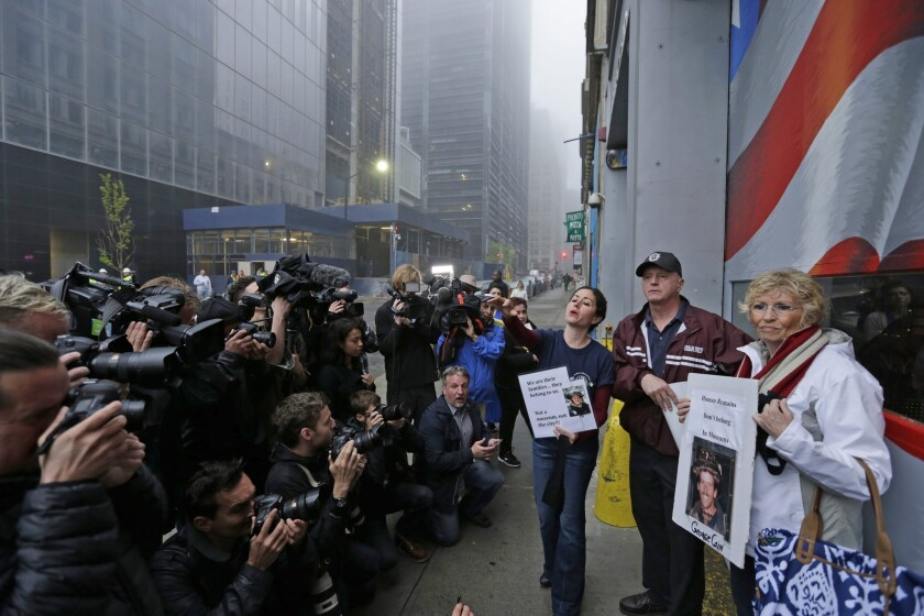 Some family members protest the transfer of remains of 9/11 victims to a repository at Ground Zero. City officials say the remains will be off-limits to 9/11 Museum visitors; some relatives fear they may be subjected to flooding and should be above ground in a tomb.