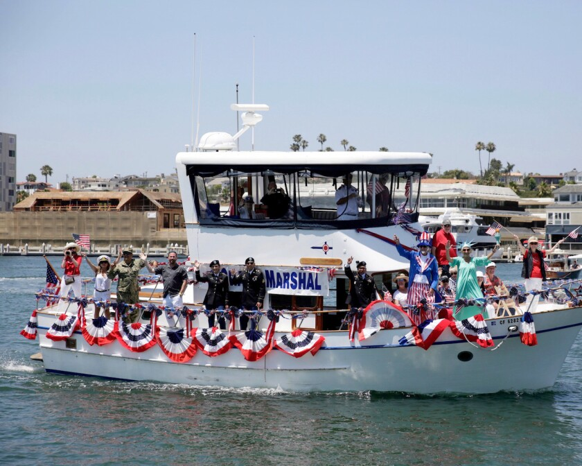 A boat from the Old Glory Boat Parade.