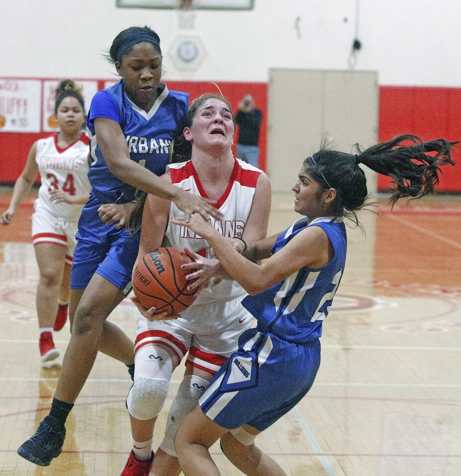 Photo Gallery: Rivals Burbank and Burroughs tip off in Pacific League girls' basketball