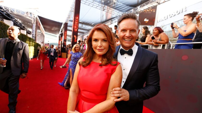 LOS ANGELES, CA., September 18, 2016: Mark Burnett and Roma Downey arriving at the 68th Prime