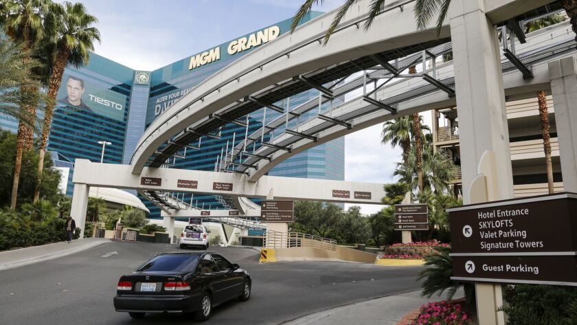 LAS VEGAS, NV., MAY 5, 2016: The MGM Grand is one of the casino properties in Las Vegas that will so