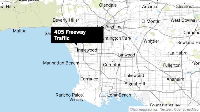 Map of 405 Freeway arrests