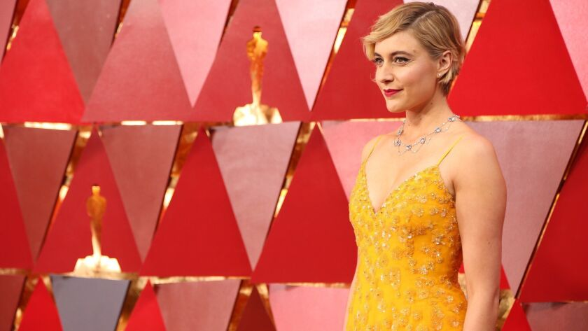 "Greta Gerwig at the 90th Academy Awards. Will she earn an Oscar nomination for her take on ""Little Women""?"