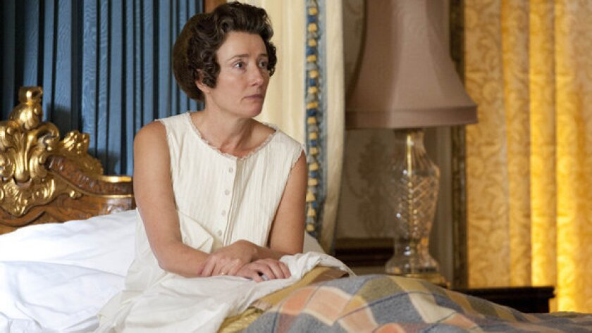 """Emma Thompson plays the Queen of England in the prize-winning short """"Walking the Dogs."""""""