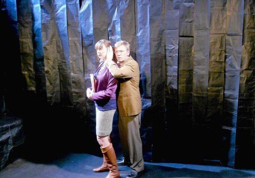 "Sarah Rosenberg and Dan Via star in a scene ""The City."""
