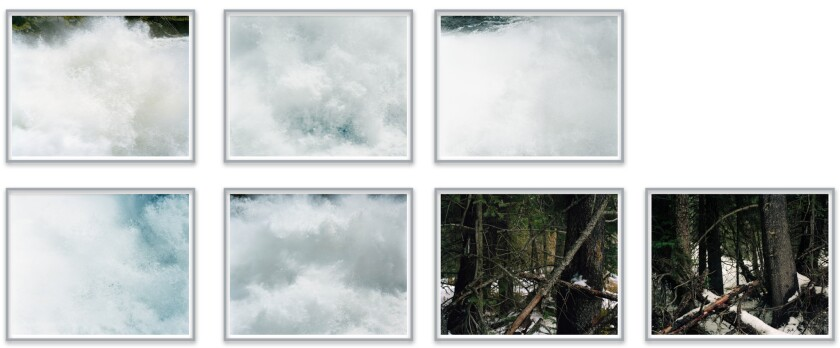 """A selection from Ron Jude's """"Lick Creek Line"""" at Gallery Luisotti."""