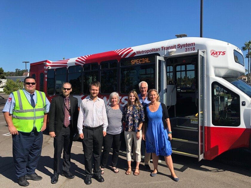 The Carmel Valley Community Planning Board's North West Transit Subcommittee held a MTS bus tour on Sept. 17.