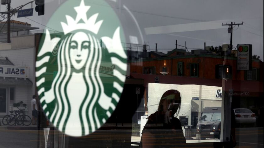 California may give coffee sellers an exemption from posting Proposition 65 cancer warnings. Above, a Starbucks.