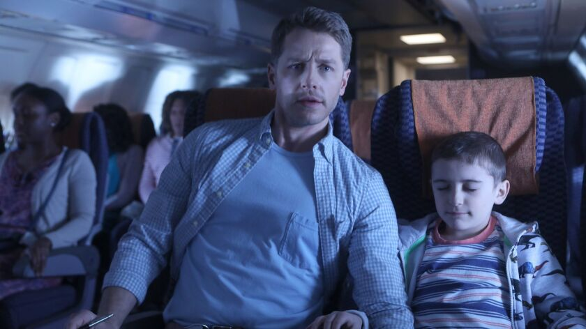 """In """"Manifest,"""" a lost commercial flight touches down half a decade after its scheduled arrival time. Human meddling or divine intervention? The NBC series stars Josh Dallas as Ben Stone and Jack Messina as his son, Cal."""