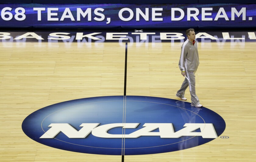 NCAA needs to cancel March Madness this year, writes columnist Dylan Hernandez.