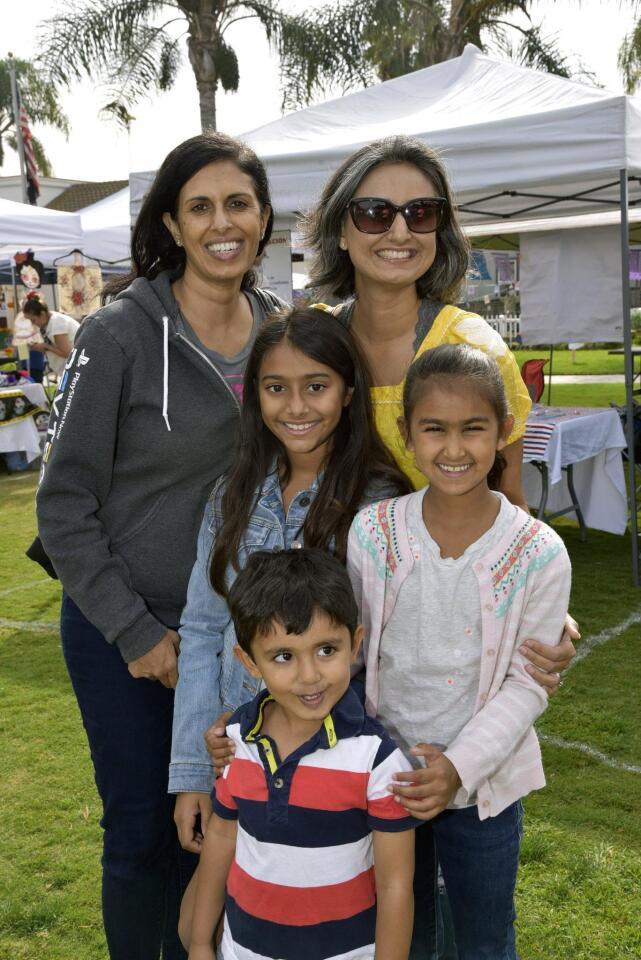 Sangita Bhatia, Nicole Mehta, with Suren, Eesha, Uma